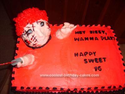 Homemade  Chucky Cake