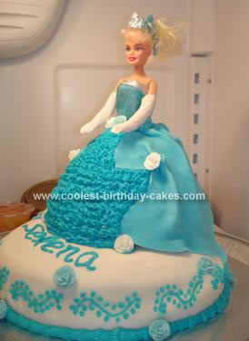 Homemade Cinderella Birthday Cake