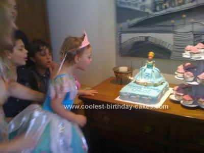 Homemade Cinderella Birthday Cake Design