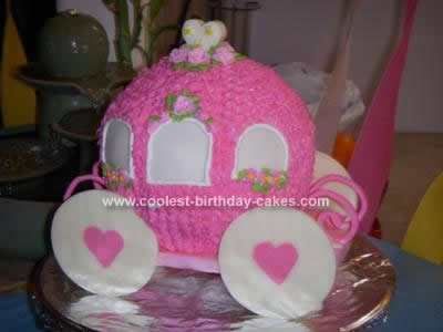 Homemade Cinderella Carriage Cake Design