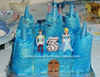 Homemade Cinderella Castle Birthday Cake