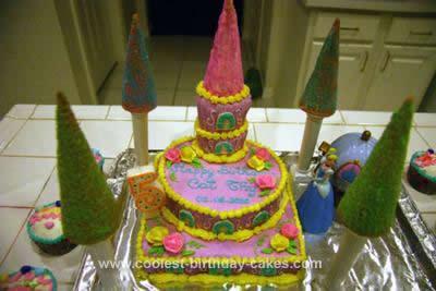 Homemade Cinderella Castle Birthday Cake Design