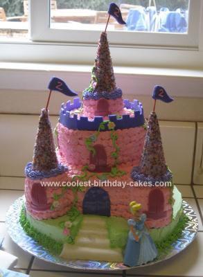 Homemade Cinderella's Castle Cake