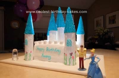Homemade Cinderella Princess Castle Cake