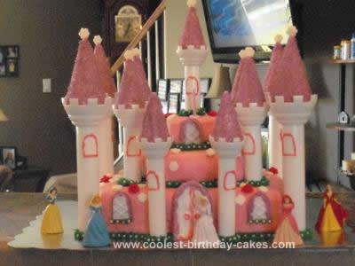 Homemade Cinderella's Castle Birthday Cake Design
