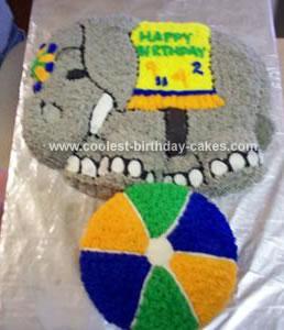 Homemade Circus Cake