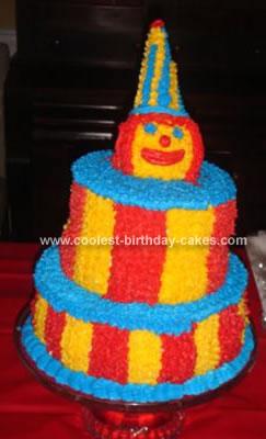 Homemade Circus Clown Cake