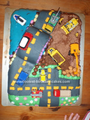 birthday party scene. Homemade City Scene 4th Birthday Party Cake