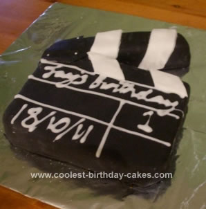Homemade Clapperboard Cake
