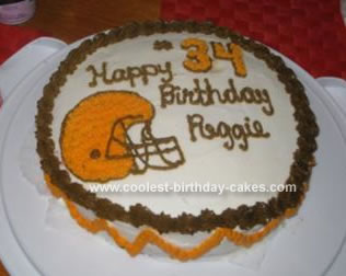 Homemade  Cleveland Browns Birthday Cake