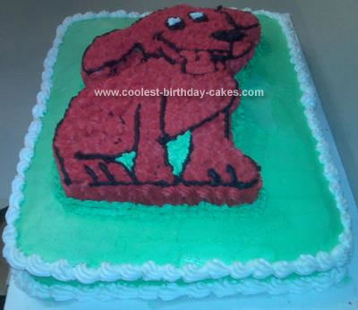 Homemade Clifford Birthday Cake
