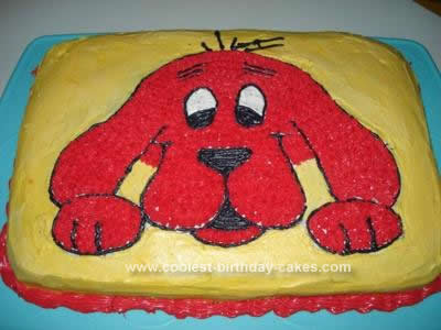 Homemade Clifford Birthday Cake Design