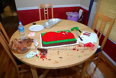 Homemade Clifford the Big Red Dog Cake