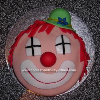 Homemade Clown Birthday Cake