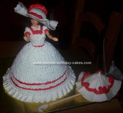 Homemade Coca Cola Vintage Lady Cake