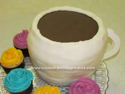 Homemade Coffee Cup Birthday Cake