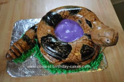 Homemade Coiled Timber Rattlesnake Birthday Cake