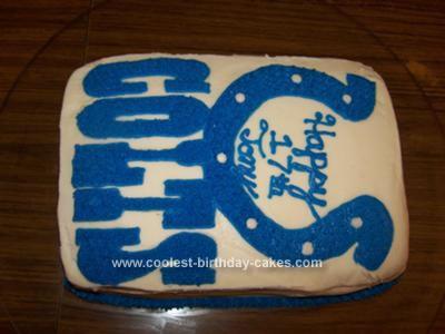 Homemade Colts Birthday Cake