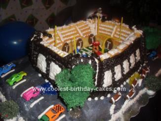 Homemade Colts Football Stadium Cake