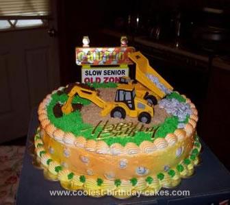 Homemade Construction Cake