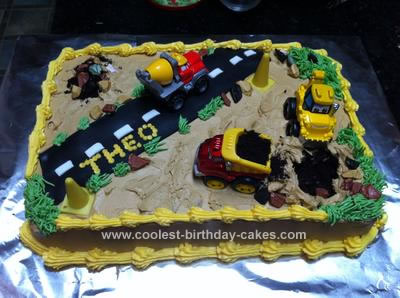 Homemade Construction Cake