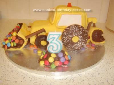 Homemade Construction Digger Cake