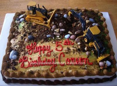 Homemade Construction Site Birthday Cake