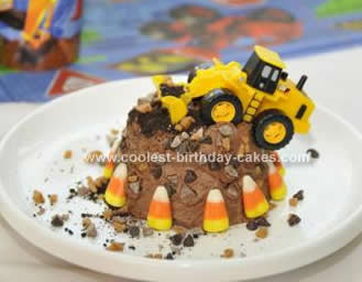 Homemade Construction Site Cake