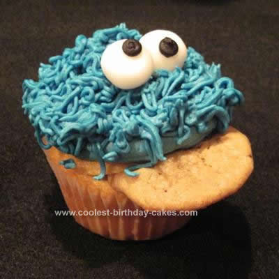 Homemade Cookie Dough - Cookie Monster Cupcakes