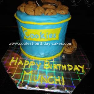 Homemade Cookie Jar Cake