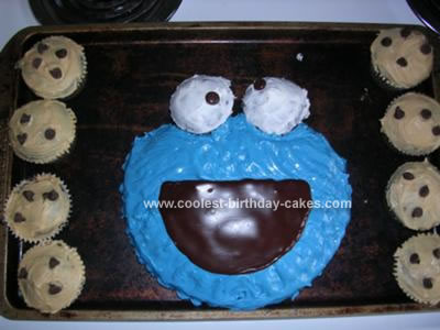 cookie monster cake. Cake 41, Cookie Monster Cake