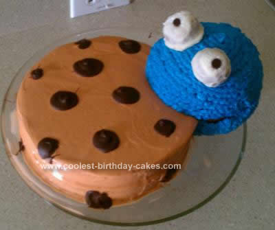 Homemade Cookie Monster Cake