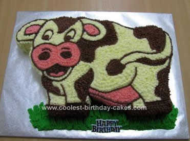 Homemade Cow Cake Idea