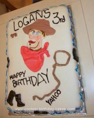Homemade Cowboy Birthday Cake