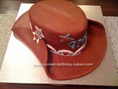 Homemade  Cowboy Hat Cake Design