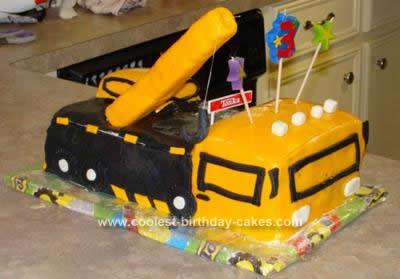 Homemade Crane Truck Birthday Cake Design