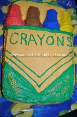 Homemade Crayon Box Birthday Cake
