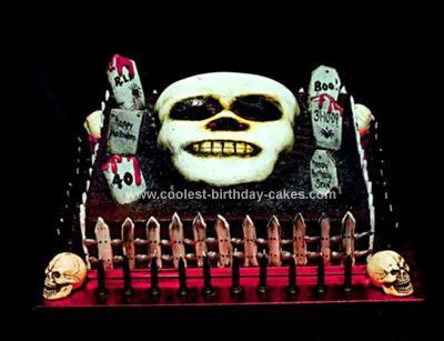 Homemade Creepy Halloween Cake