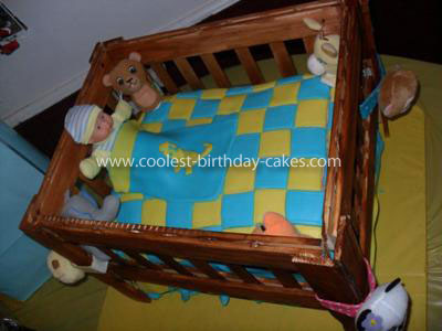 Coolest Crib Cake for Baby Shower