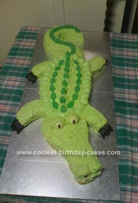 Homemade Crocodile Birthday Cake