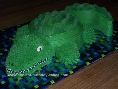 Homemade Crocodile Cake Design