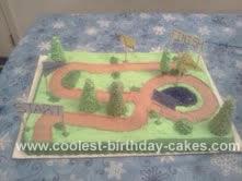 Homemade Cross Country Course Cake