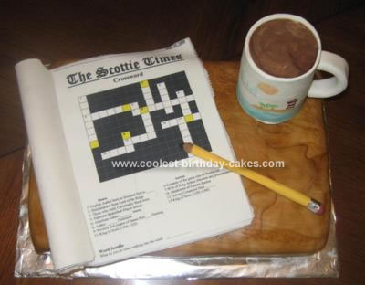 Coolest Homemade Crossword Puzzle Cake