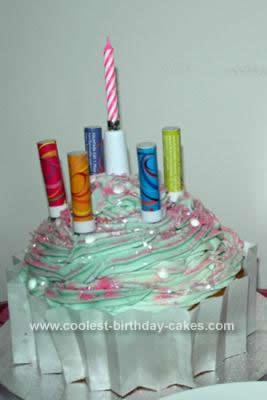 Homemade CupCake Birthday Cake