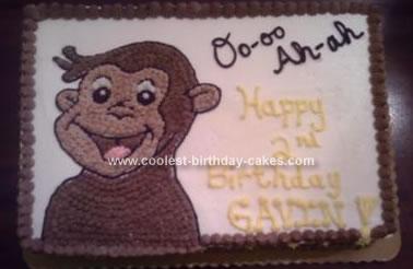 Homemade Curious George Birthday Cake
