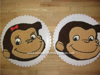 Homemade Curious George Birthday Cake