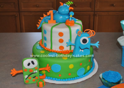 Homemade Cute Monster Cake Idea