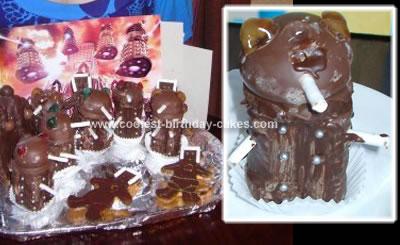 Mini Daleks & Cybermen Cake