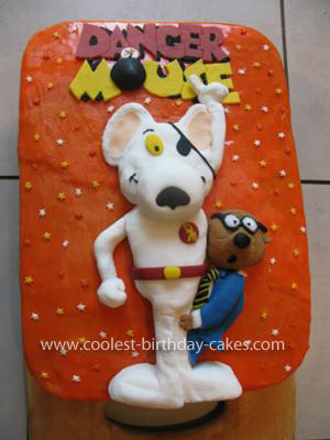 Homemade Danger Mouse and Penfold Birthday Cake