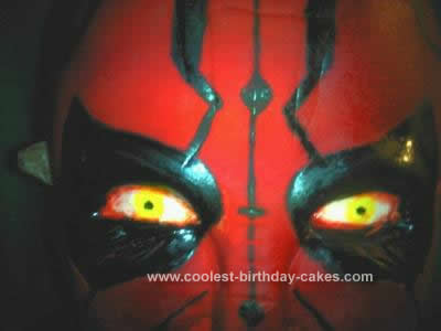 Homemade Darth Maul Birthday Cake